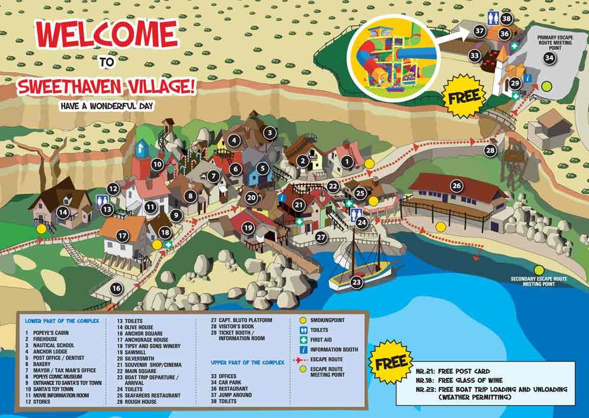 Explore popeye village malta
